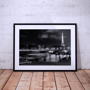 Paris Photography Eiffel Seine Black White