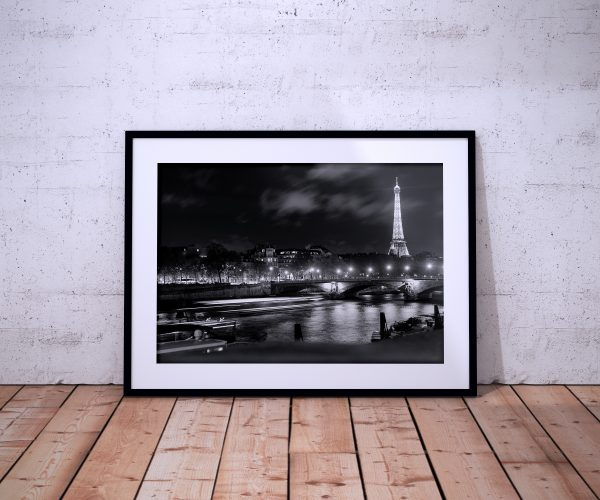 Paris Photography Eiffel Seine Black White